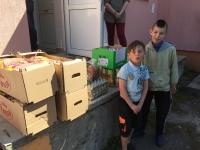 2 boys +Easter food