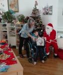 Santa +boy in Wheel chair