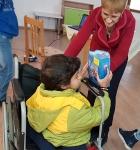 Sevda + child in wheel chair
