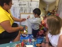 Pleven Speech teacher, Alice and a boy 1