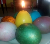 Candles + eggs 1
