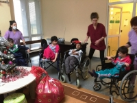 Vratsa CNST - children in invalid chairs