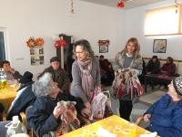 Maria +Albi ditributing presents to soupkitchen