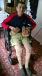 Man with leg problems