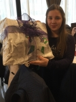 Magy with a present