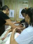 Hristo, Iva, Tzveti massaging 1