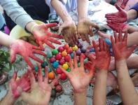 Coloring hands 1 1