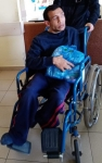 Gorski S.Young man in a wheel chair 1